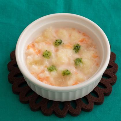 【離乳食初期】野菜のミルクうどんがゆ