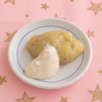 【離乳食初期】バナナ豆腐