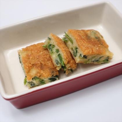 【離乳食後期】ほうれん草のチーズチヂミ