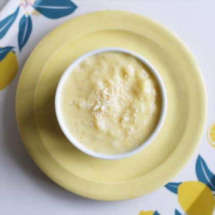 【離乳食初期】ストライプ♪にんじんとほうれん草のおかゆ