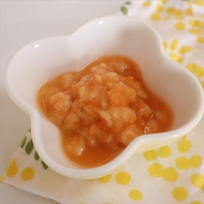 【離乳食初期】にんじんパン粥
