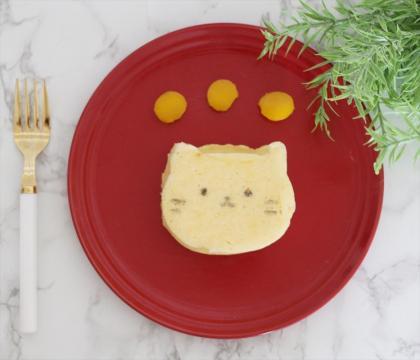 【離乳食完了期】電子レンジで♪にゃんこ厚焼きヨーグルトパンケーキ