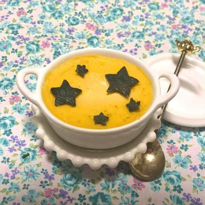 【離乳食中期】かぼちゃの卵黄プリン