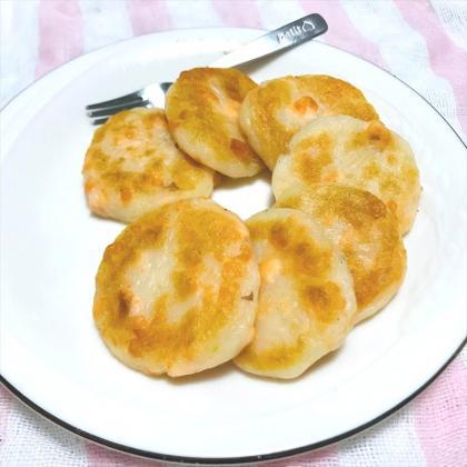 【離乳食後期】サーモン芋もち