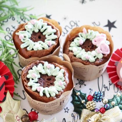 【離乳食完了期】クリスマス♡リースカップケーキ