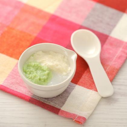 【離乳食初期】枝豆豆腐がゆ
