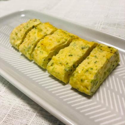 【離乳食後期】豆腐とブロッコリーの青のりオムレツ