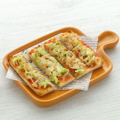 【離乳食完了期】白菜ツナのスティックパンピザ