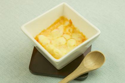 【離乳食】里芋のトマト風味グラタン