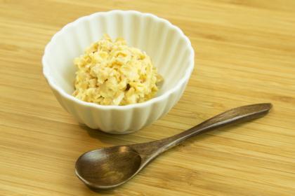 【離乳食後期】納豆のやわらか卵とじ
