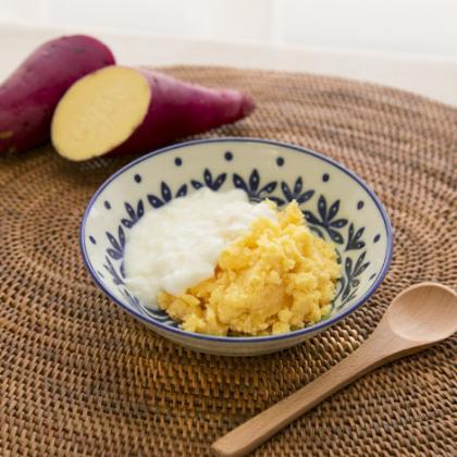 【離乳食中期】さつま芋plusヨーグルト