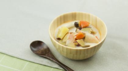 さつま芋豆乳スープ