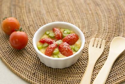【離乳食完了期】アスパラとトマトのドリア