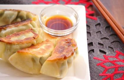 鶏と豆腐の大葉餃子