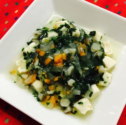 【離乳食後期】豆腐の野菜あんかけ