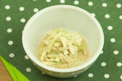 【離乳食】ささみの棒々鶏風サラダ