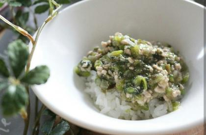 【離乳食後期】夏野菜の肉味噌どんぶり