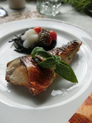 鯖の塩焼き~あっさりおろしチアシード添え