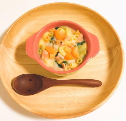 【離乳食完了期】鮭のクリームパスタ