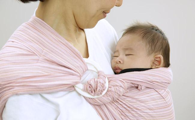 赤ちゃんをスリングで抱っこする方法 -基本編のイメージ