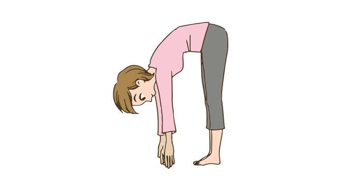 産褥体操 前かがみイメージ