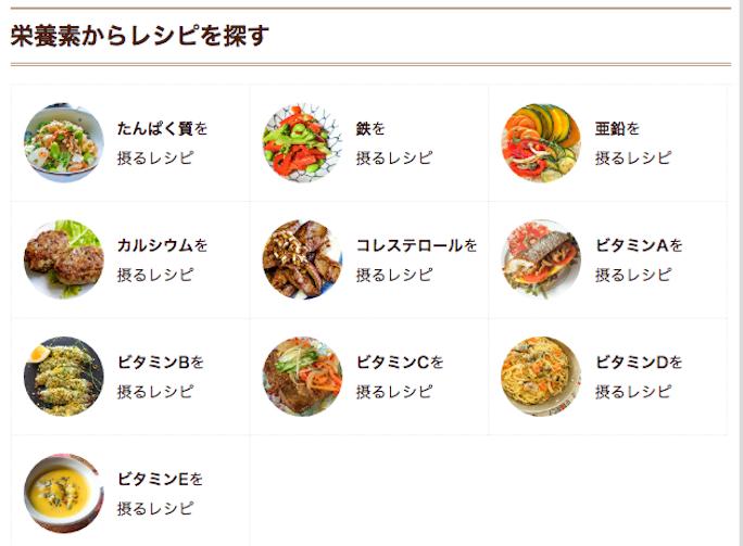ベビーカレンダーのレシピ