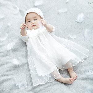 新生児サマーセレモニードレス&帽子セット