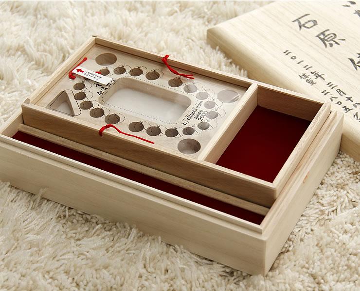 へその緒入れ・乳歯入れ おいたちの小箱(ウィッシュ) B6母子手帳用・内箱式ロング