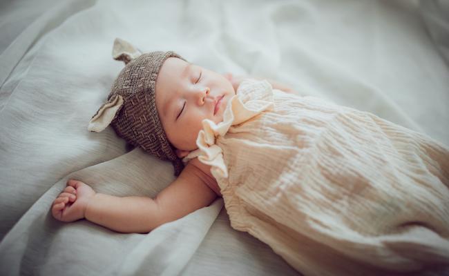 新生児用の帽子