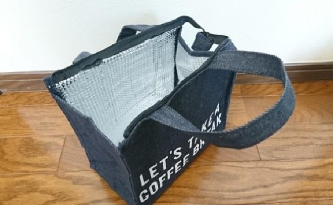 3COINSの保冷つきミニトートバッグ