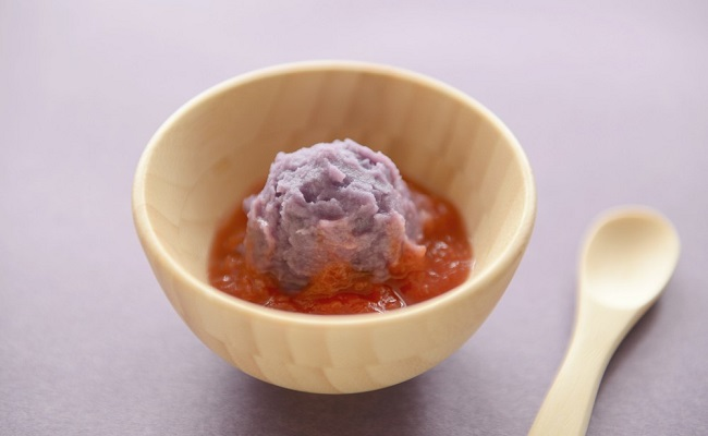 【離乳食初期】紅いもとトマトのペースト