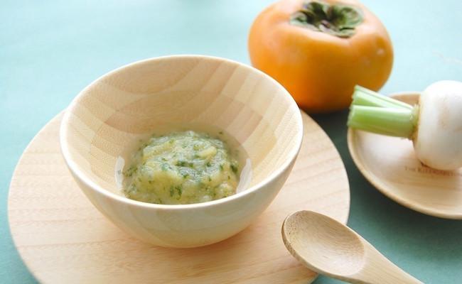 【離乳食初期】かぶと柿のトロトロ