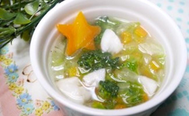 【離乳食後期】 カレイと冬野菜の和スープ