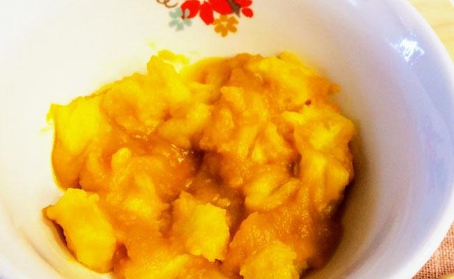 【離乳食後期】かぼちゃパンがゆ