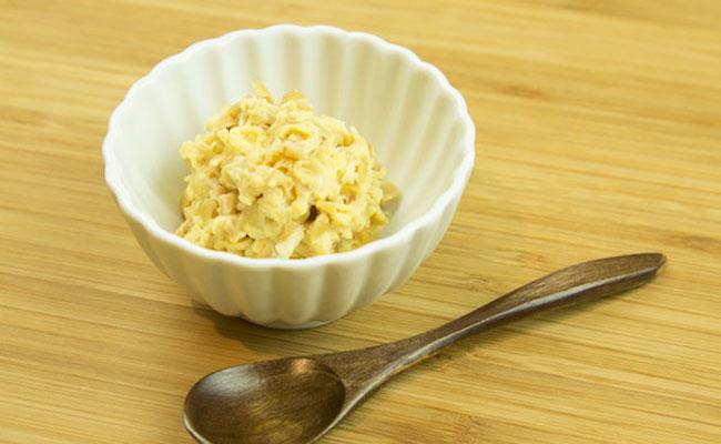 【離乳食後期】納豆柔らか卵とじ