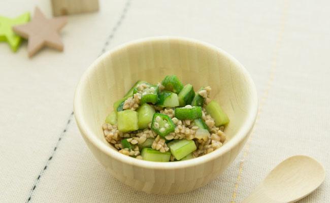 納豆を使った離乳食レシピ
