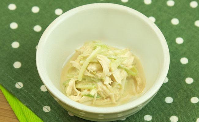 【離乳食後期~完了期】ささみの棒々鶏風サラダ