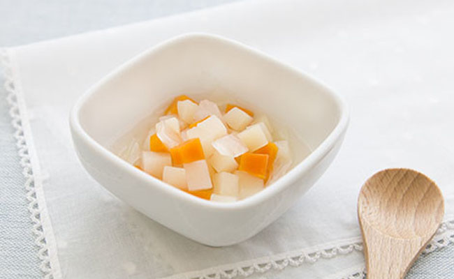 【離乳食後期】コロコロ根菜の煮物