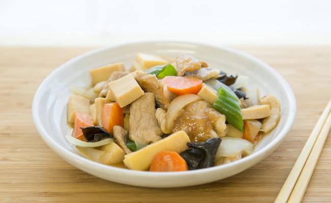凍り豆腐の中華風炒め