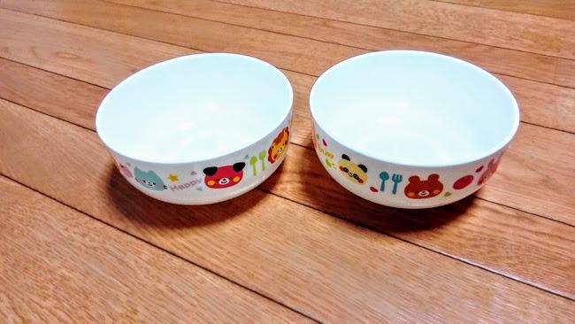100均のプラスチック製の子ども用食器