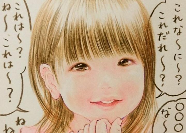 『shirokuma』さんが描く2歳児女子