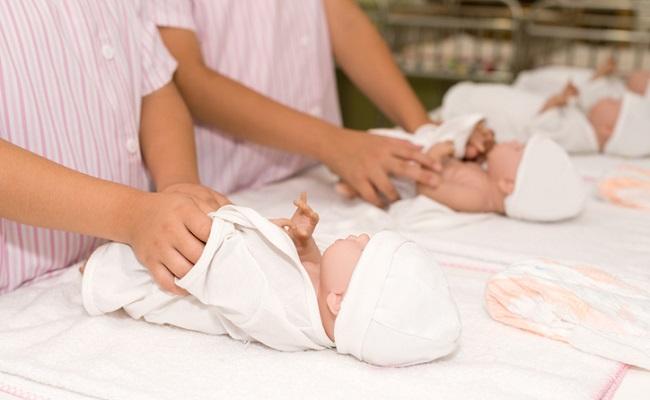 産院での赤ちゃんのイメージ