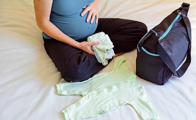 妊婦さんの入院準備のイメージ