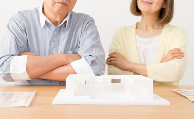 二世帯住宅と義両親のイメージ