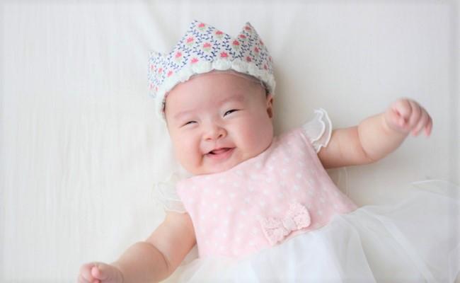 記念日の赤ちゃん