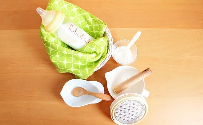 粉ミルクを使った離乳食のイメージ