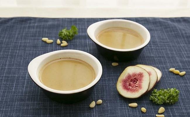 管理栄養士監修レシピ「ほうじ茶の豆乳プリン」
