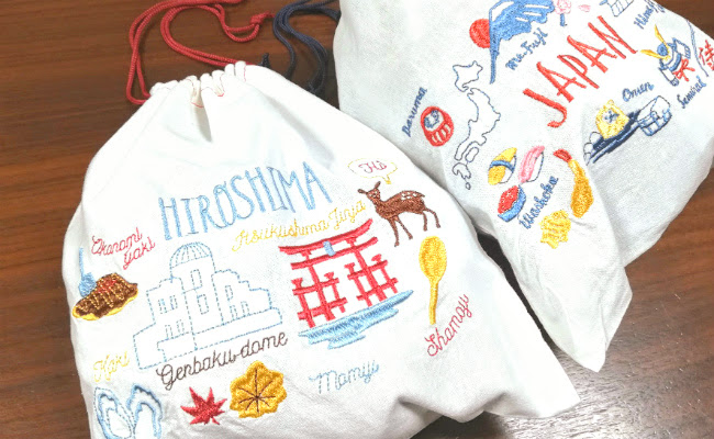 3COINS「外国刺繍巾着」