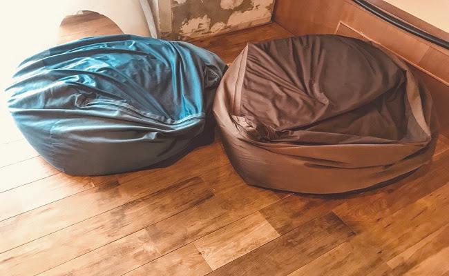 無印良品「体にフィットするソファ」ビーズクッション