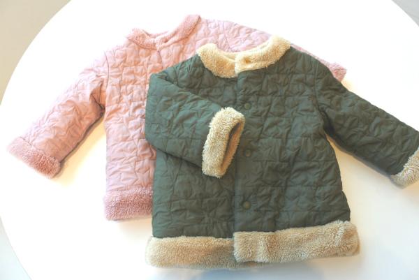 ユニクロ赤ちゃんベビー服アウター2018_ライトウォームパデットリバーシブルコート